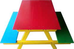 Outdoor Furniture -  Multi-coloured Picnic Table