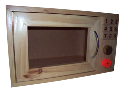 Cubby/Home Corner -  Wooden Microwave