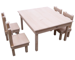 Train Tables -  Train Table & 4 Chairs