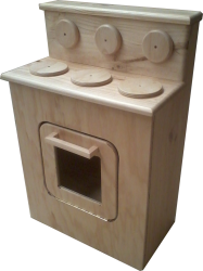 Cubby/Home Corner -  Wooden Stove